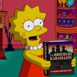 lisa simpson reading a book