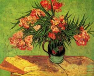 t_Van Gogh - Still Life Vase with Oleanders and Books