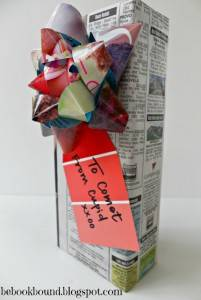 Newspaper Wrapping with Magazine Bow