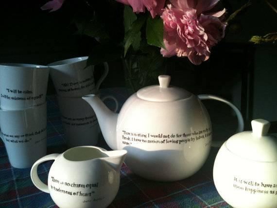jane austen tea set