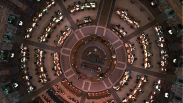 library scene all the president's men
