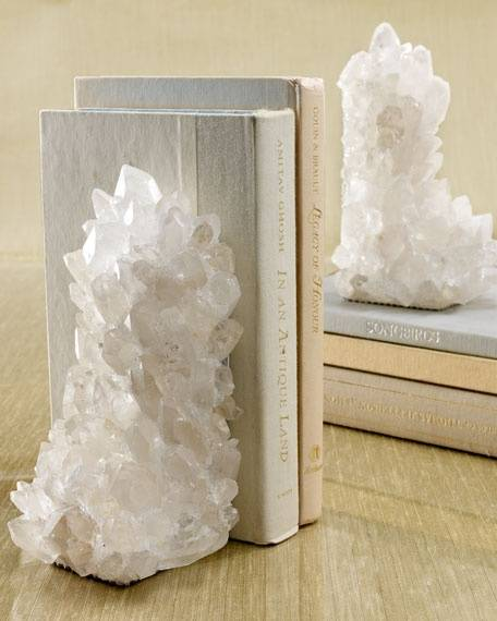 quartz bookends