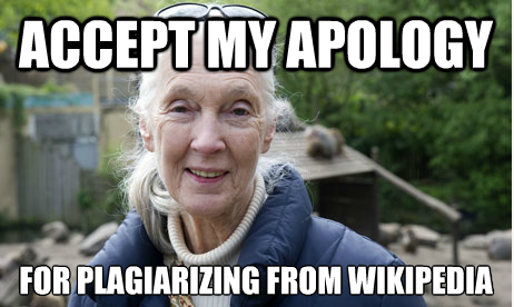 goodall // accept my apology for stealing from wikipedia