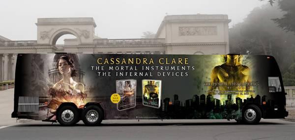 cassandra clare tour bus