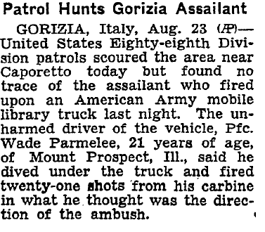 From the New York Times (August 24, 1946).