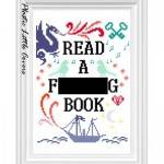 read a book cross-stitch