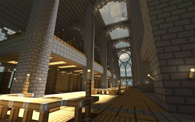 Ten Of The Most Beautiful Libraries Ever Built In Minecraft. Minecraft  Castle Interior Design Ideas Idea