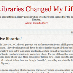 Libraries Changed My Life