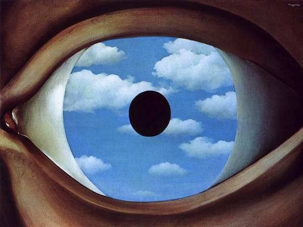 René Magritte's The False Mirror - 1928