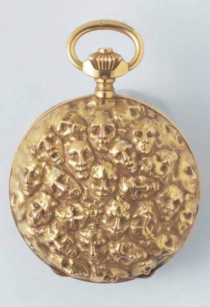 Gold pocket watch by Lalique