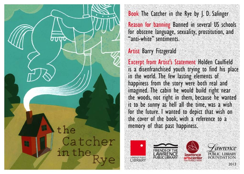 catcher in the rye banned book card