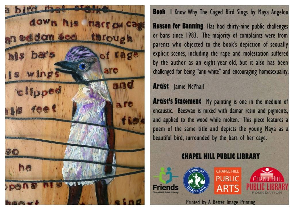 i know why the caged bird sings banned book card