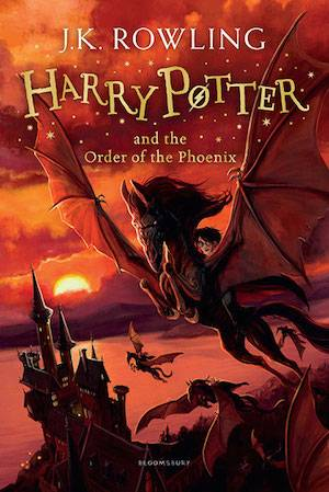 Harry Potter And The Order Of The Phoenix Book Cover | BookRiot.com