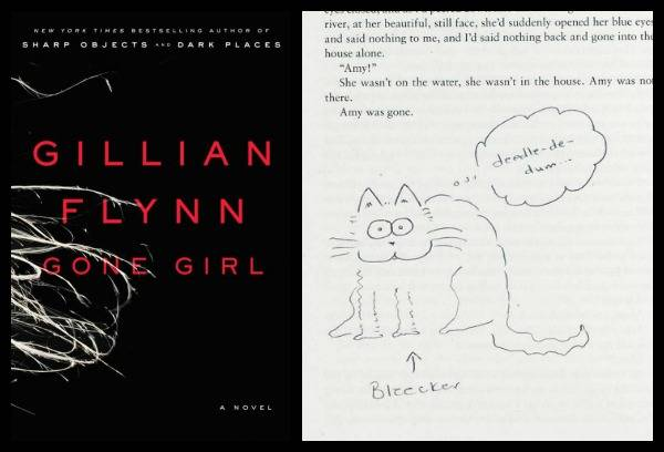 Gillian Flynn's cat doodle in an annotated first edition of Gone Girl.