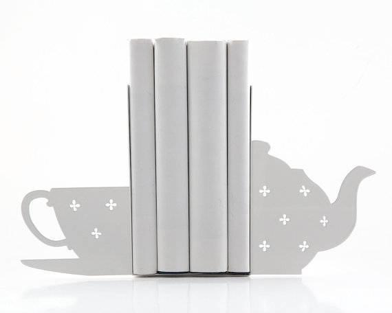 book tea bookends