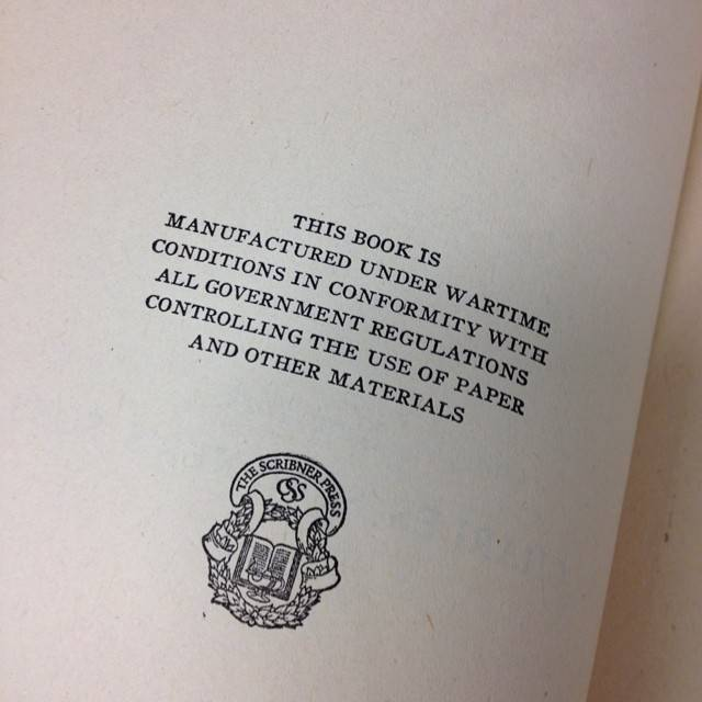 Amazing stamp on a WWII era book in the Gotham Book Mart Collection