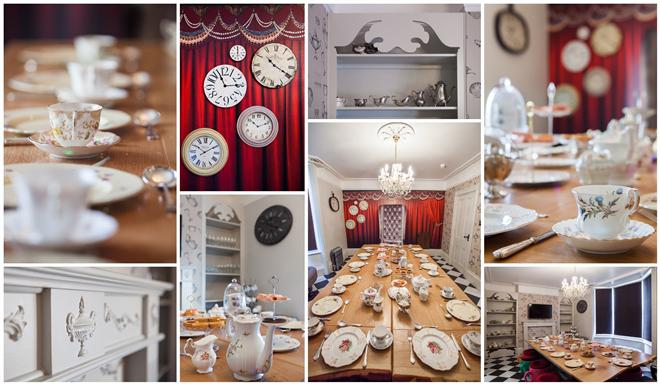 wonderland 1 Mad Hatter Dining Room