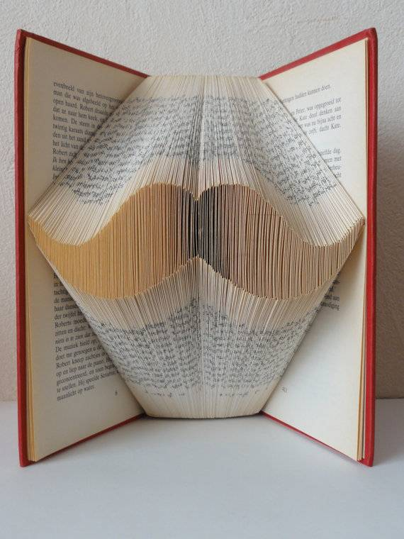 Folded book art from The Folded Book Page Etsy shop