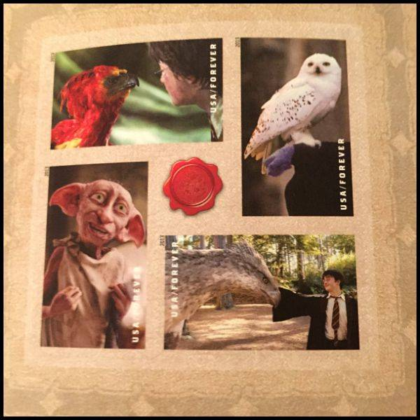 Harry Potter Stamps for my wedding invitations - the animal kingdom