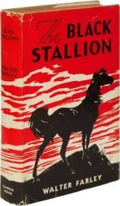 Black Stallion vintage book jacket