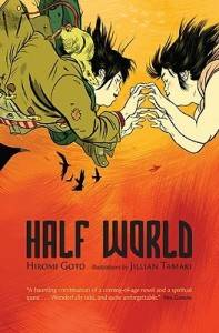 cover of half world by hiromi goto