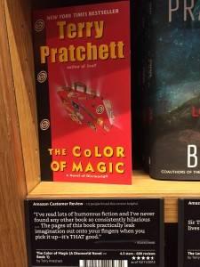 Amazon bookstore shelf labels