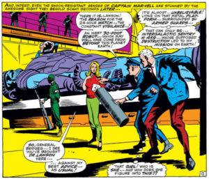 Mar-Vell meets Carol Danvers for the first time