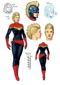 2012 Captain Marvel redesign by Jamie McKelvie
