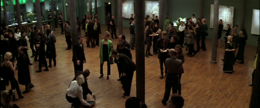 Great Expectations 1998 - Joe crouches to help server