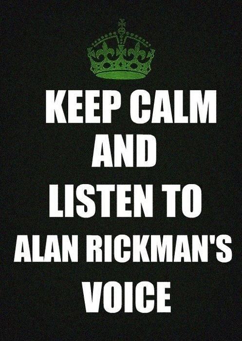 keep calm alan rickman
