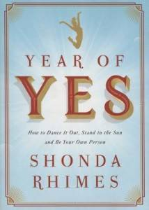 year of yes by shonda rhimes cover
