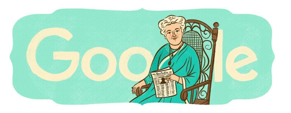 10:1:15 Annie Besant's 168th Birthday India