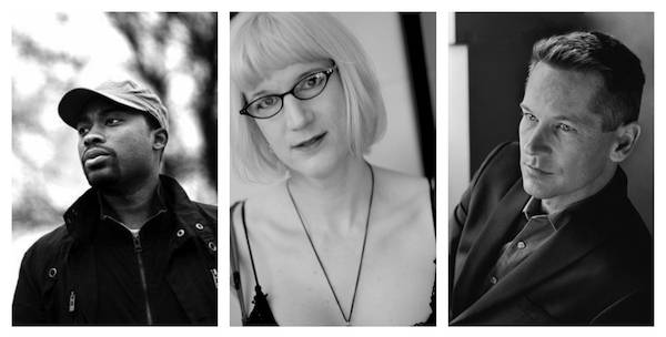 author photo collage with Charlie Jane Anders Valentine De Landro and Patrick Phillips