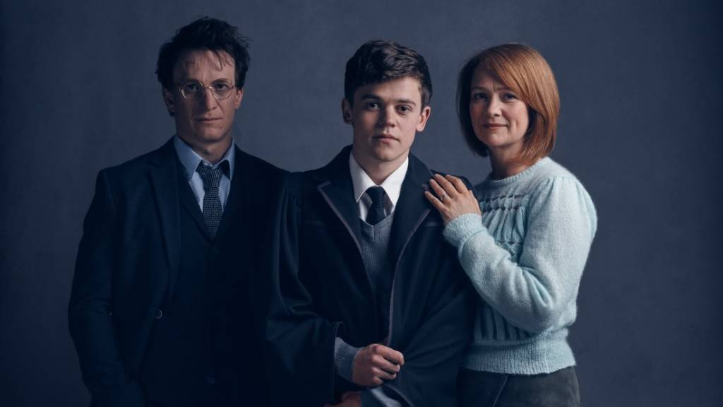 Harry, Albus, and Ginny
