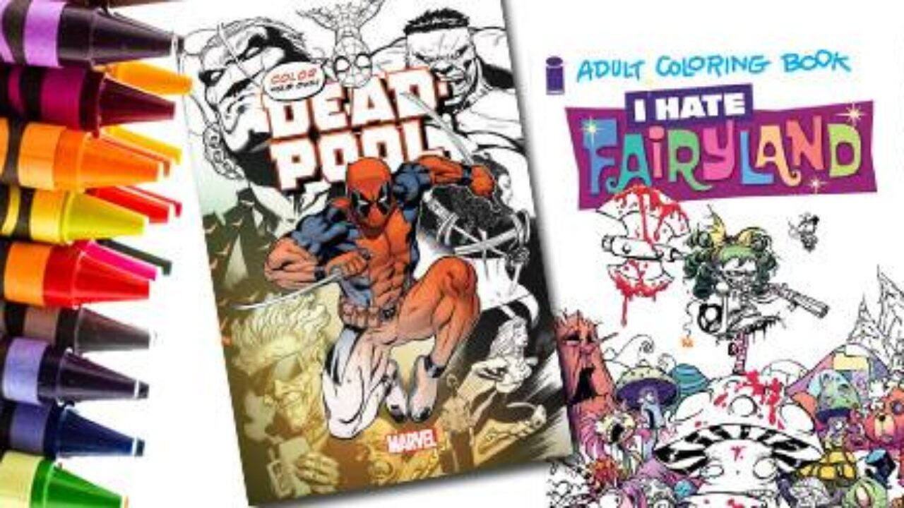 Adult Cartoon Comics get your coloring on with these adult coloring book comic books