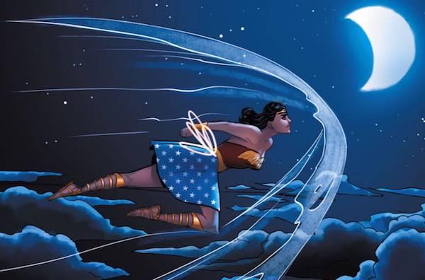 Wonder Woman in flight