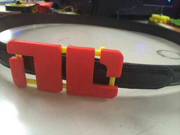 Bitch Planet NC 3d printed belt buckle.
