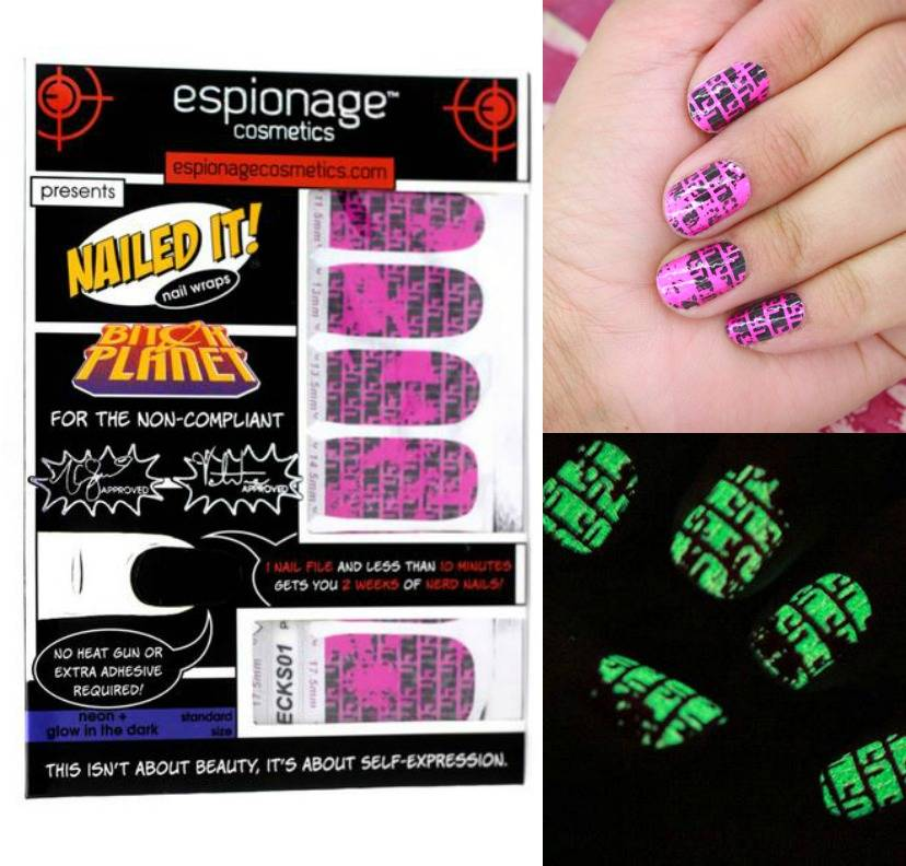 Bitch Planet - Non-Compliant NC nail wraps from Espionage Cosmetics