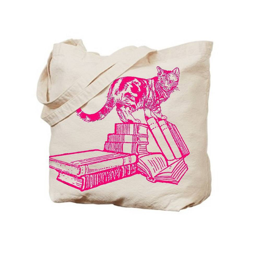 kitty-and-books-tote