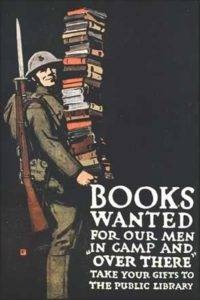 Image used to promote book donations during World War One