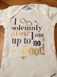 I solemnly swear I am up to no good onesie