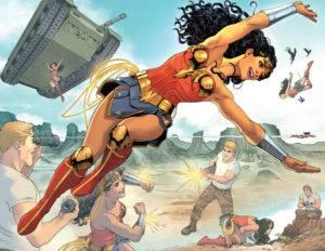 Wonder Woman training with Steve Trevor