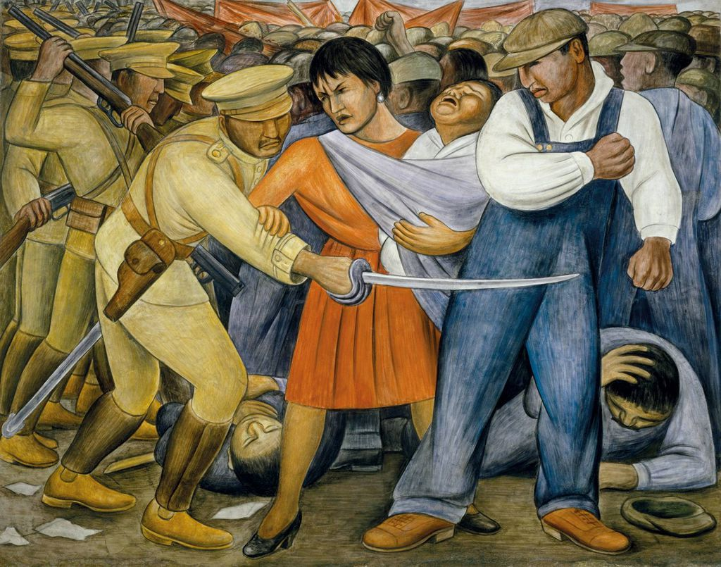 The Uprising by Diego Rivera