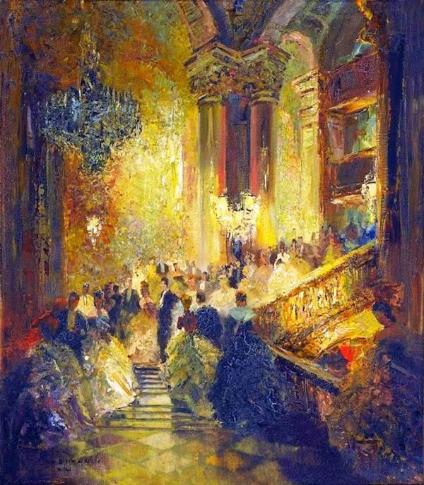 Opera Scene by Ludwig Gschossmann