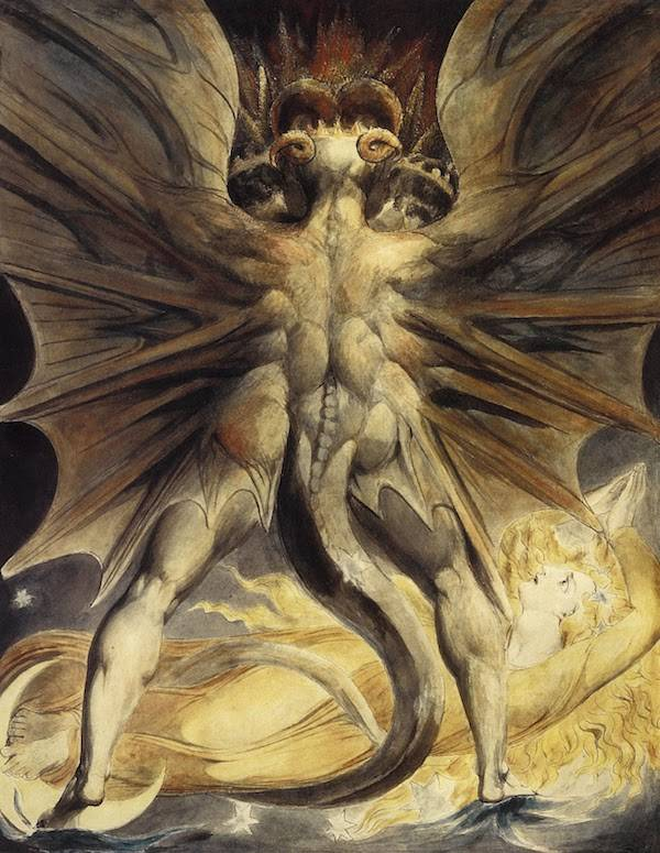 The Great Red Dragon and the Woman Clothed in Sun by William Blake