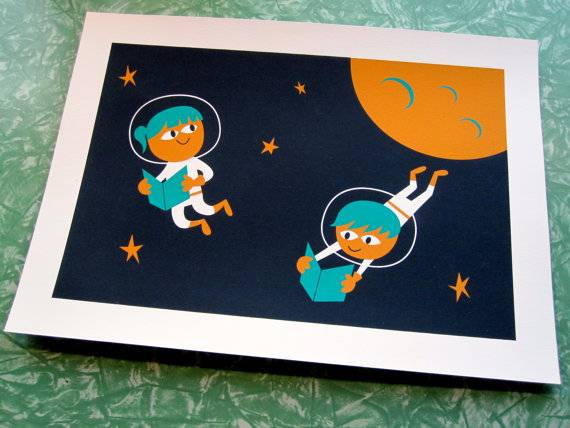 Books in Space! Astronaut Readers Print
