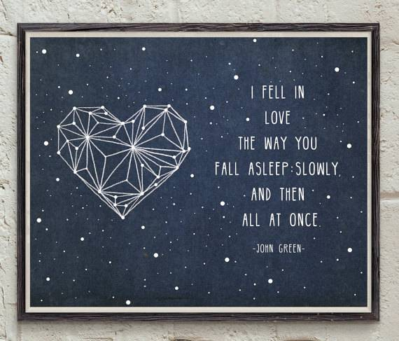 Books in Space! Fault in our Stars Print