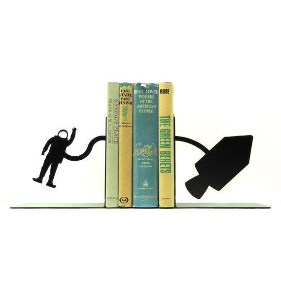 Books in Space! Space Bookends