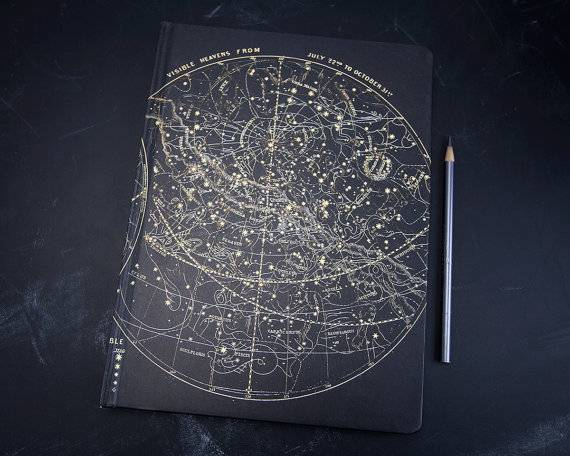 Books in Space! Constellation Notebook