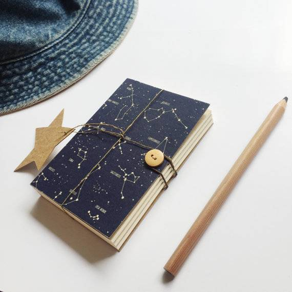 Books in Space! Constellation Space-Themed Journal